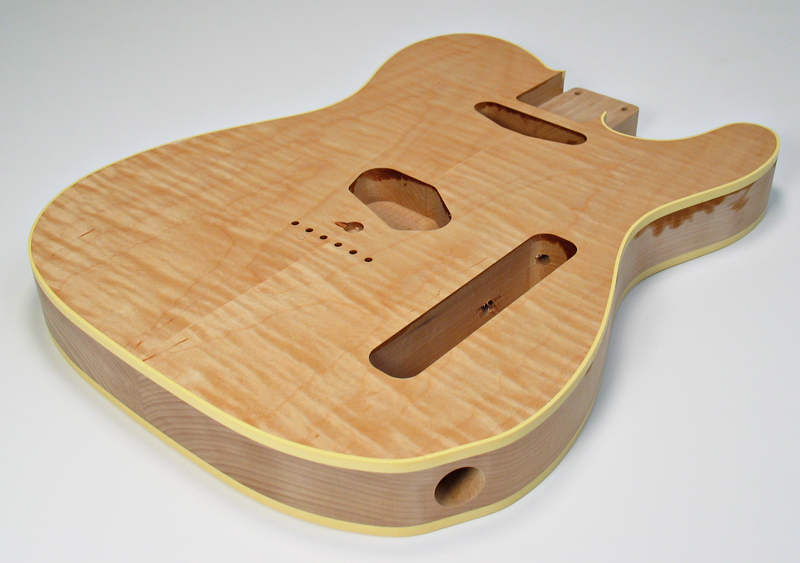 Tele Custom Style Body with Curly Maple Caps American Vintage