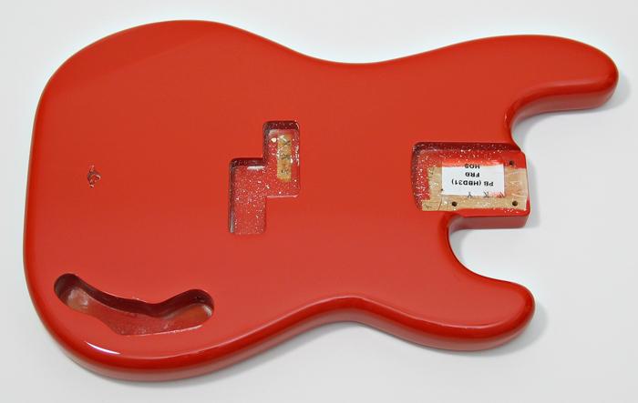 Alder Precision Bass Body Fiesta Red