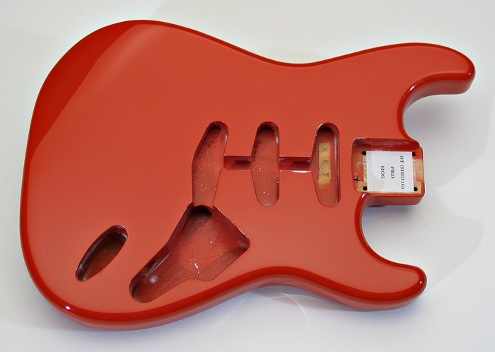 stratocaster replacement body hard tail fiesta red. Black Bedroom Furniture Sets. Home Design Ideas